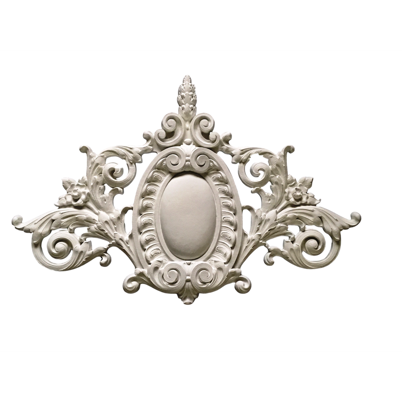 "Cartouche French Renaissance 37"" Wide x 24"" H - Offered In Stain & Paint Versions"