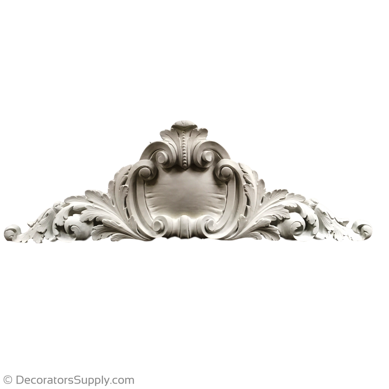 "Resin (Exterior) Cartouche--French--62"" X 22""--4 1/4"" Relief"