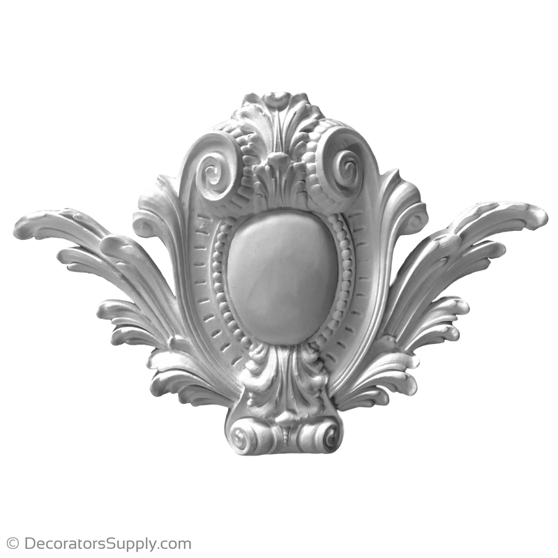 "Resin (Exterior) Cartouche - Louis XIV - 22"" x 15-1/2"" x 2-1/2"""