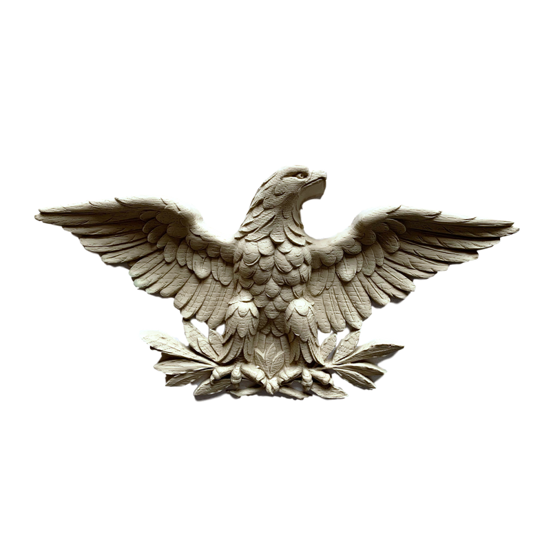 "Resin (Exterior) American Eagle 6"" H x 12-1/8"" W x 1-3/8"" Relief"