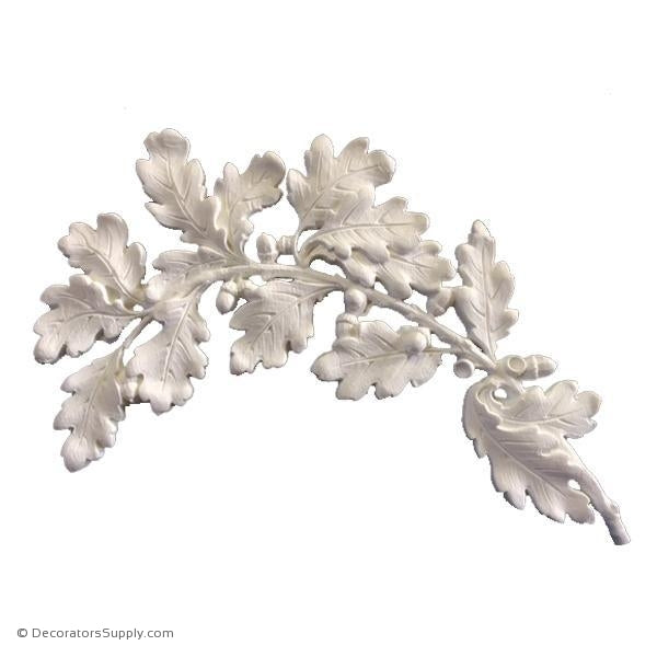 "Resin (Exteriors) Oak Leaves Right Side 11""H x 16-5/8""W x 5/8""-Decorators Supply"