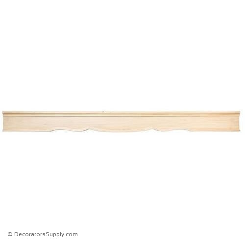 Smooth Scrolled Wood Range Hood - (Cherry & Maple)