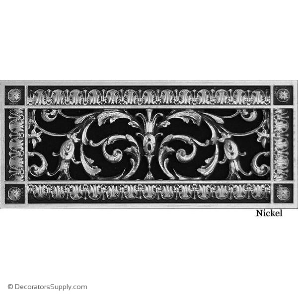 RESIN LOUIS XIV GRILLE - 4X12 DUCT, 6 X 14 FRAME