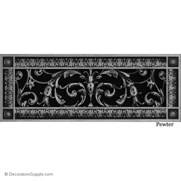 RESIN LOUIS XIV GRILLE - 4X14 DUCT, 6 X 16 FRAME