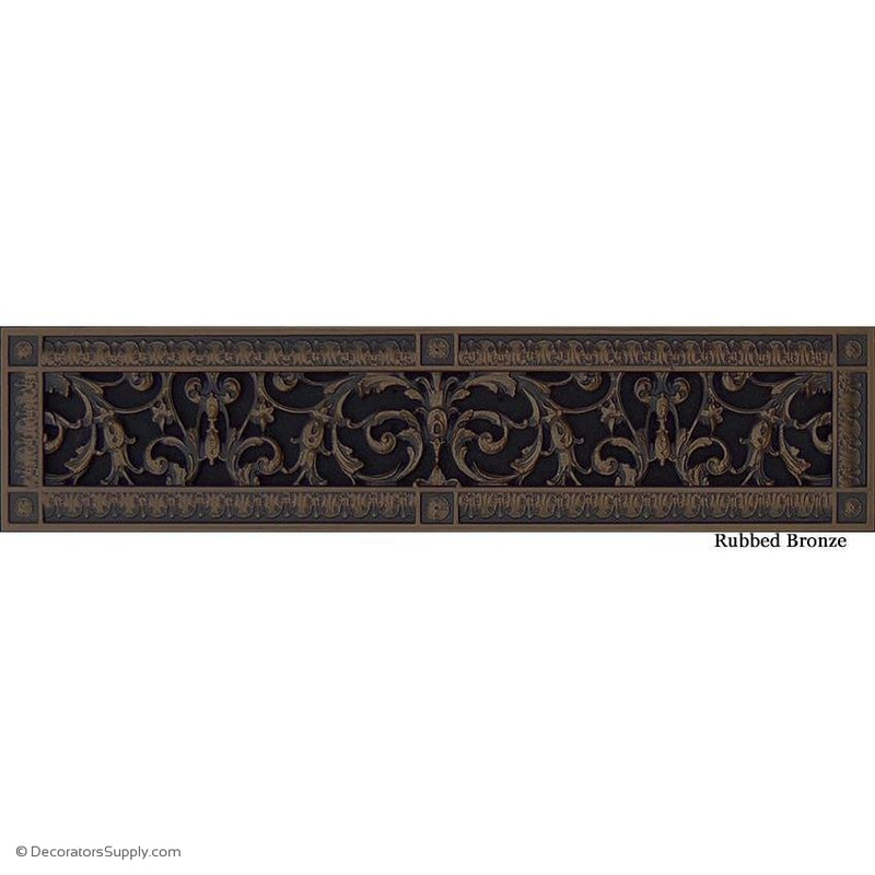 "RESIN LOUIS XIV GRILLE - 4 X 24' DUCT, 6 X 26"" FRAME"