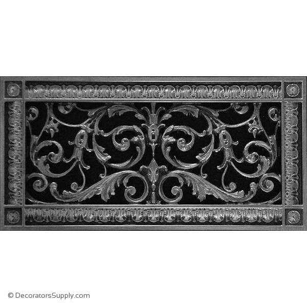 RESIN LOUIS XIV GRILLE -  6X14 DUCT, 8 X 16 FRAME