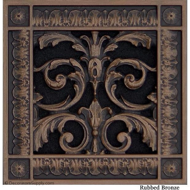 RESIN LOUIS XIV GRILLE - 6X6 DUCT, 8 X 8 FRAME