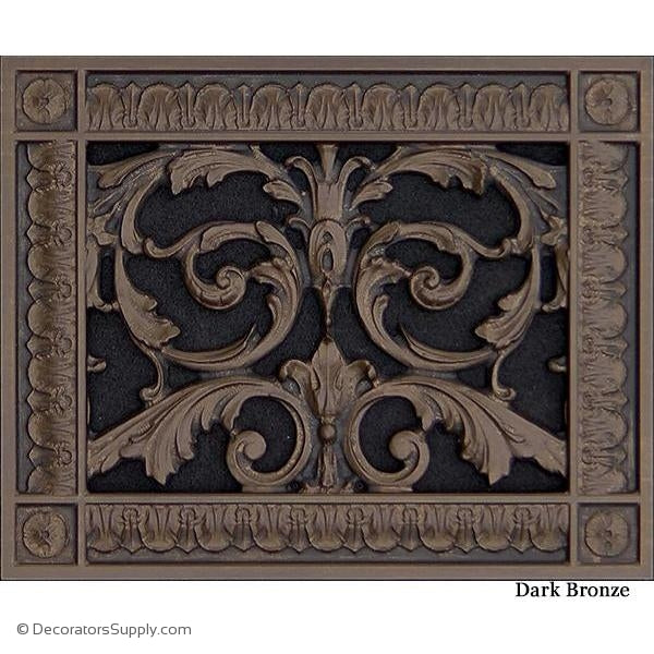 RESIN LOUIS XIV GRILLE - 6X8 DUCT, 8 X 10 FRAME