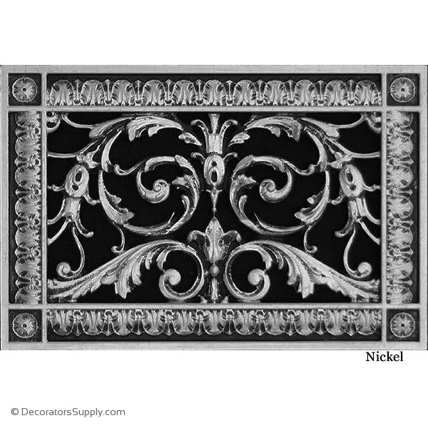 "Resin Louis XIV Vent Cover Grille  6"" x 10""  Duct  8"" x 12"" Frame"