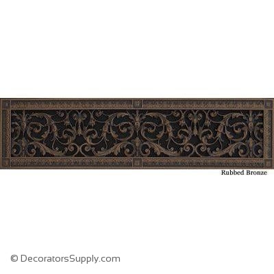RESIN LOUIS XIV GRILLE - 6X30 DUCT, 8 X 32 FRAME