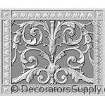 RESIN LOUIS XIV GRILLE - 8X10 DUCT, 10 X 12 FRAME
