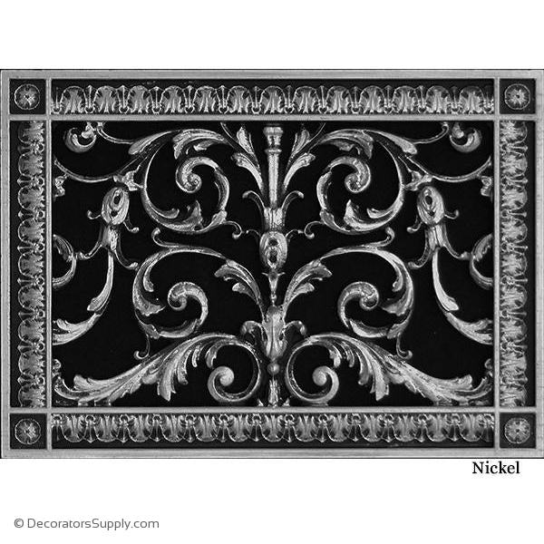 "Resin Louis XIV Vent Cover Grille  8"" x 12"" Duct  10"" x 14"" Frame"