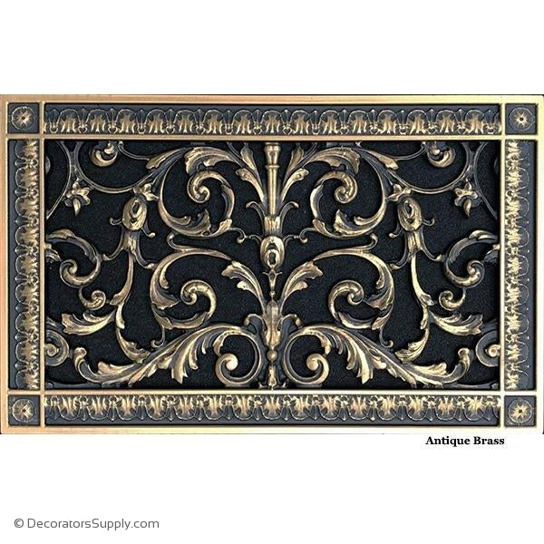 RESIN LOUIS XIV GRILLE - 8X14 DUCT, 10 X 16 FRAME