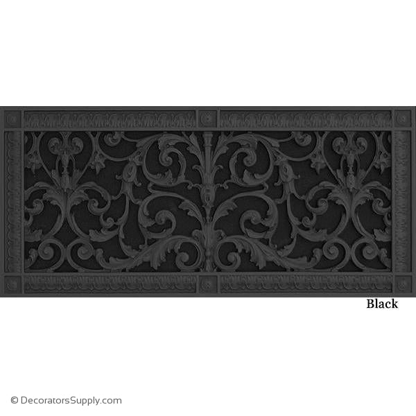 "RESIN LOUIS XIV GRILLE - 8 X 20"" DUCT, 10 X 22"" FRAME"
