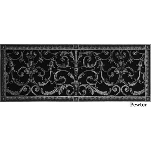 RESIN LOUIS XIV GRILLE - 8X24 DUCT, 10 X 26 FRAME