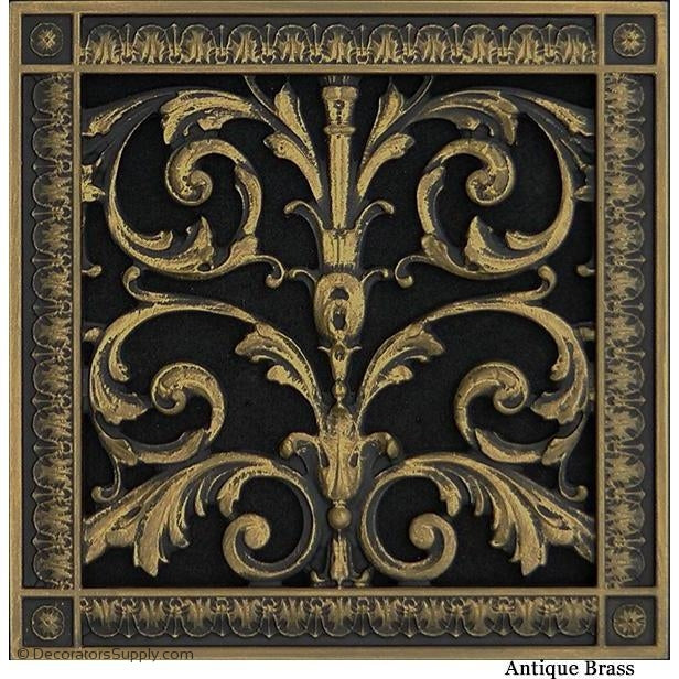 RESIN LOUIS XIV GRILLE - 10X10 DUCT, 12 X 12 FRAME