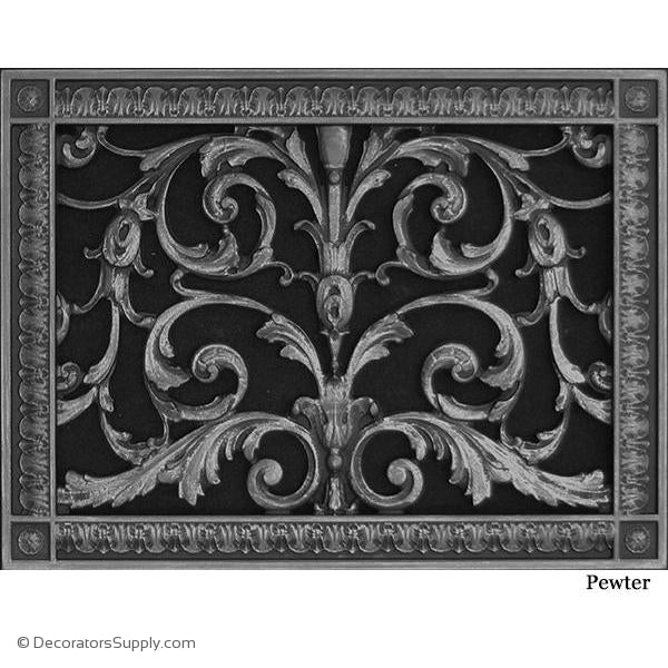 "RESIN LOUIS XIV GRILLE - 10 x 14"" DUCT, 12 x 16 3/8"" FRAME"