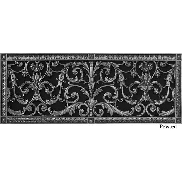 RESIN LOUIS XIV GRILLE - 10X30 DUCT, 12 X 32 FRAME