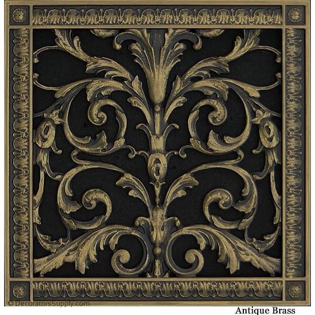 RESIN LOUIS XIV GRILLE - 12X12 DUCT, 14 X 14 FRAME