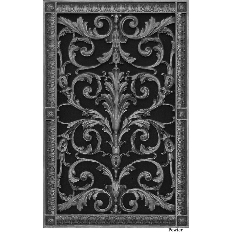 RESIN LOUIS XIV GRILLE - 20X12 DUCT, 22 X 14 FRAME
