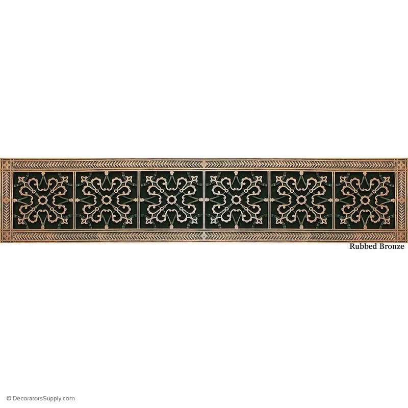 "RESIN ARTES & CRAFTS GRILLE-6X36 DUCT, 8 X 38"" Frame-BAI HVAC Grille-vent-cover-Decorators Supply"