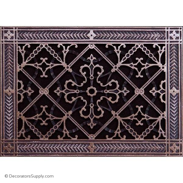RESIN ARTES & CRAFTS GRILLE - 8X12 DUCT, 10 X 14 FRAME-BAI HVAC Grille-vent-cover-Decorators Supply