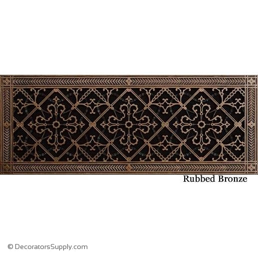 RESIN ARTES & CRAFTS GRILLE - 8X24 DUCT, 10 X 26 FRAME-BAI HVAC Grille-vent-cover-Decorators Supply