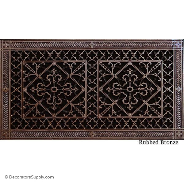 RESIN ARTES & CRAFTS GRILLE - 10X20 DUCT, 12 X 22 FRAME-BAI HVAC Grille-vent-cover-Decorators Supply