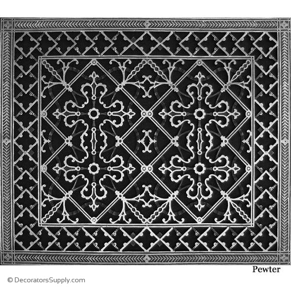 RESIN ARTES & CRAFTS GRILLE - 20X24 DUCT, 22 X 26 FRAME-BAI HVAC Grille-vent-cover-Decorators Supply
