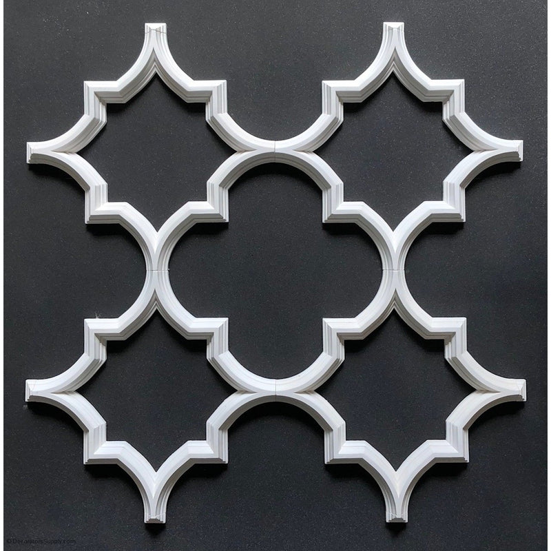 "Open Geometric Tracery - 20 5/16"" Sq  1 3/4W  x 1 1/2"" H"