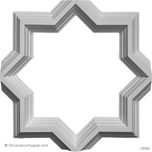 "Open Geometric Tracery- 12 11/16"" Sq - Rib - 1 1/2 x 1 3/4""-geometric-ceiling-designs-Decorators Supply"