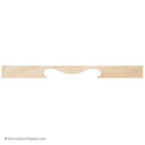 Small Wood Valance - (Cherry)