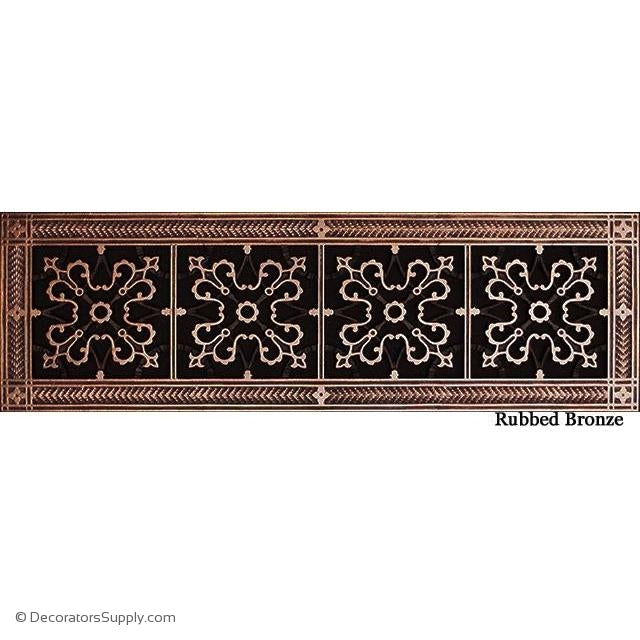 RESIN ARTES & CRAFTS GRILLE -6X24 DUCT, 8 X 26 FRAME-BAI HVAC Grille-vent-cover-Decorators Supply