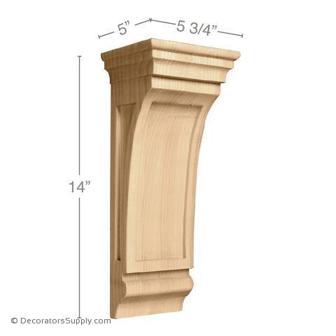 Mission Wood Corbel - (Cherry & Maple) - 2 SIZES