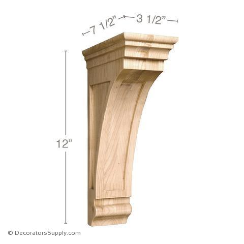 Mission Wood Corbel - (Cherry & Maple)