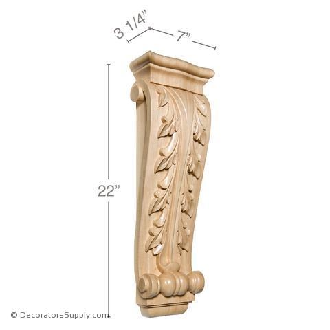 Acanthus Wood Corbel - (Cherry & Maple) - 5 SIZES
