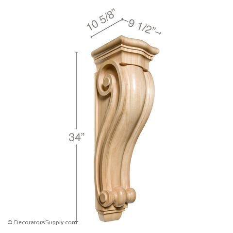 Traditional Wood Corbel - (Cherry & Maple) - 2 SIZES