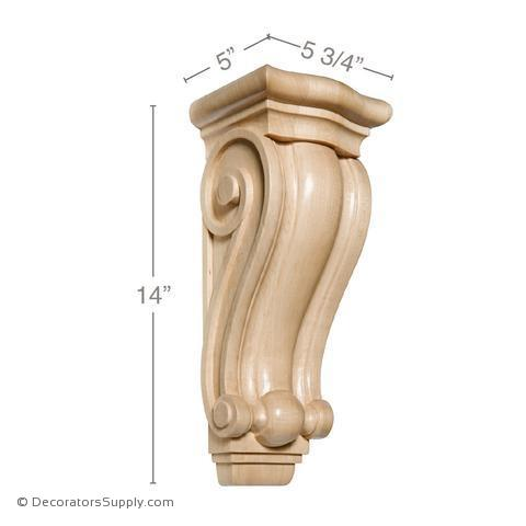 Traditional Wood Corbel - (Cherry, Maple & Lindenwood) - 4 SIZES