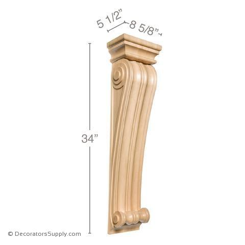 Large Classic Wood Corbel - (Cherry & Maple) - 2 SIZES