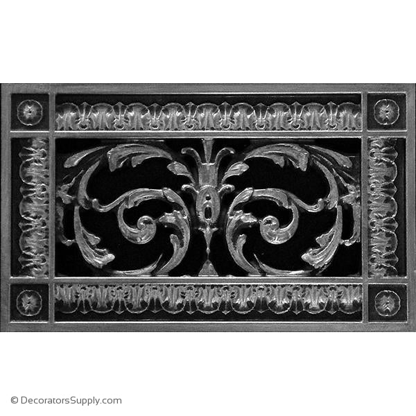 RESIN LOUIS XIV GRILLE - 4X8 DUCT, 6 X 10 FRAME