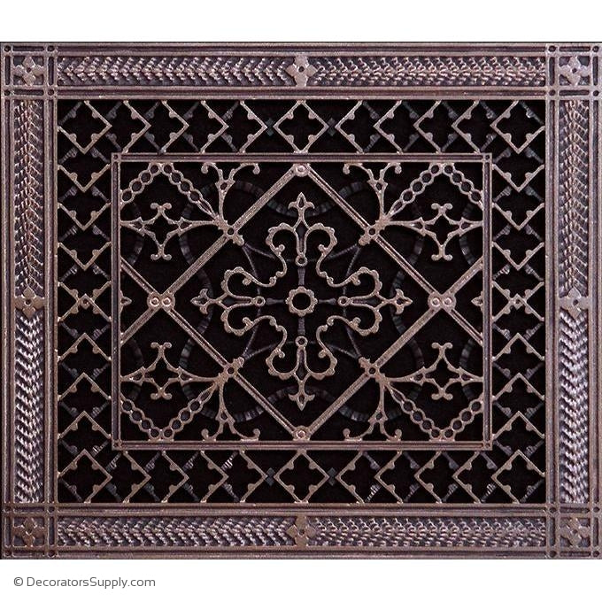 RESIN ARTES & CRAFTS GRILLE - 10X12 DUCT, 10 x 12 frame-BAI HVAC Grille-vent-cover-Decorators Supply