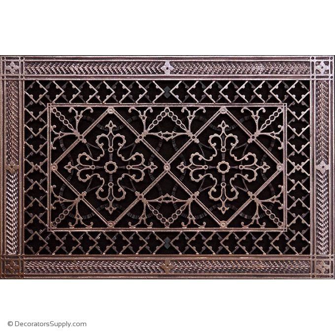 RESIN ARTES & CRAFTS GRILLE -10X16 DUCT, 12 X 18 FRAME-BAI HVAC Grille-vent-cover-Decorators Supply