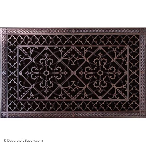 Decorative HVAC vent covers with free hand applied designer