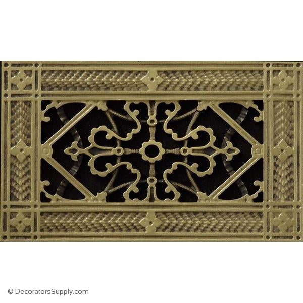 RESIN ARTES & CRAFTS GRILLE - 4X8 DUCT, 6 X 10 FRAME