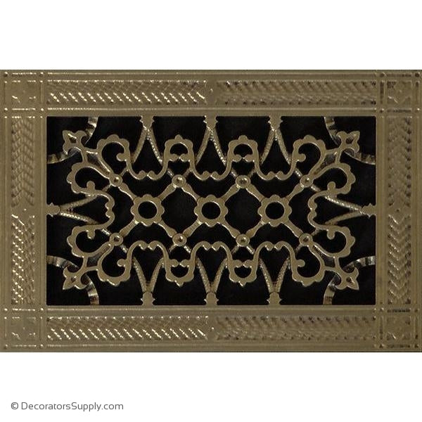 RESIN ARTES & CRAFTS GRILLE -6X10 DUCT, 8 X 12 FRAME