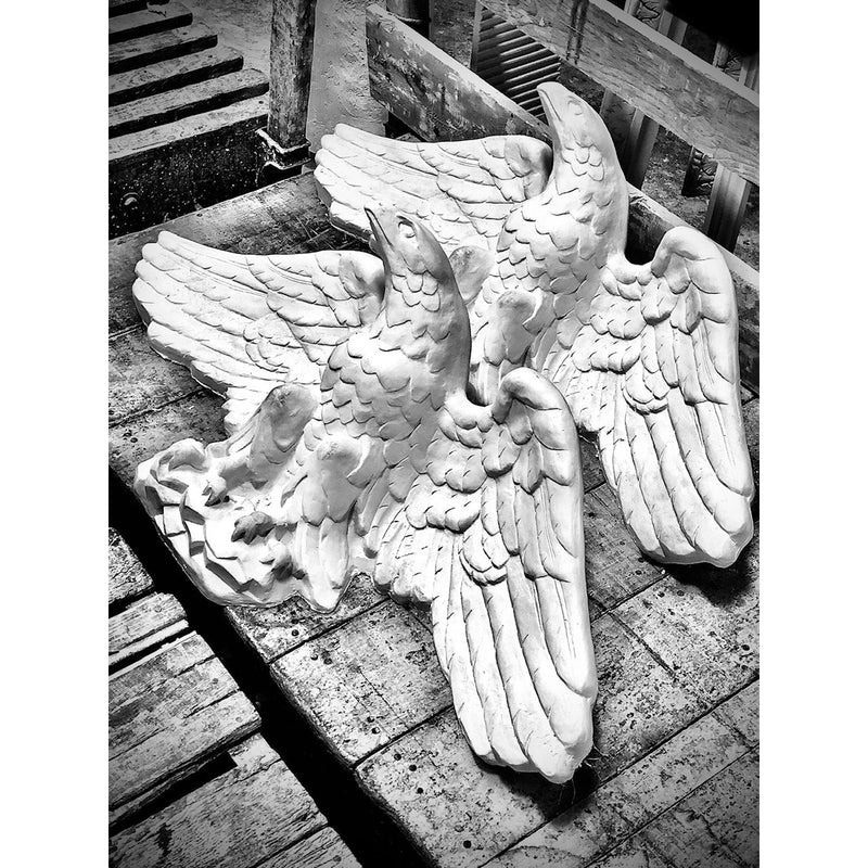 "Plaster Eagle--36"" X 13""--9"" Relief"