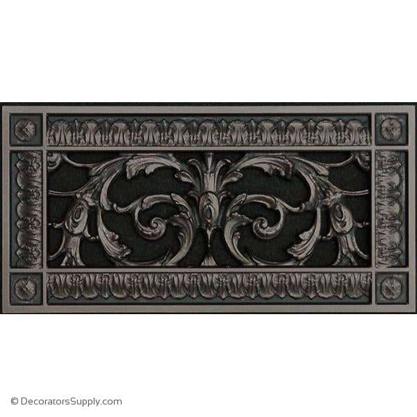 "Resin Louis XIV Vent Cover Grille   4"" x 10"" Duct  6"" x 12"" Frame"