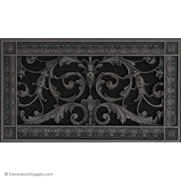 RESIN LOUIS XIV GRILLE - 6X12 DUCT, 8 X 14 FRAME