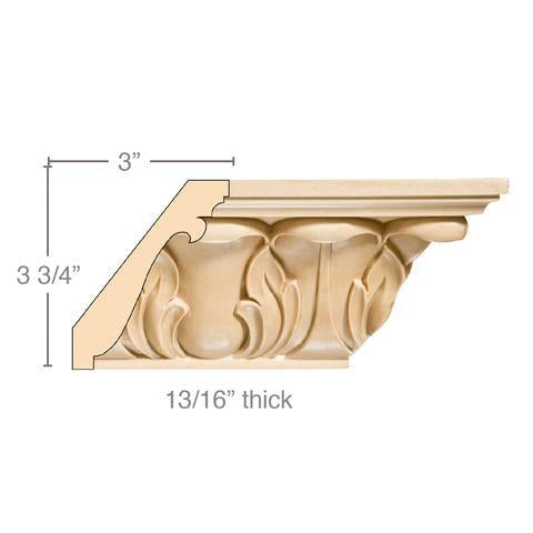 "4-3/4"" Lg Acanthus Crown (8' increments)"