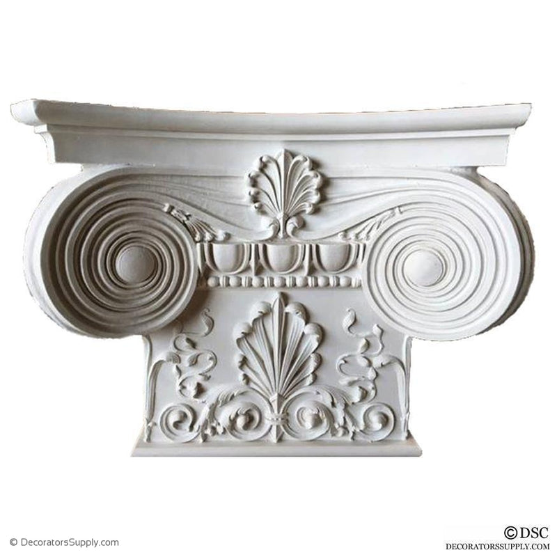 Plaster Pilaster Capital [Half Square] - Modern Ionic Empire with Necking-Decorators Supply